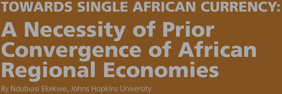 African Regional Economies By