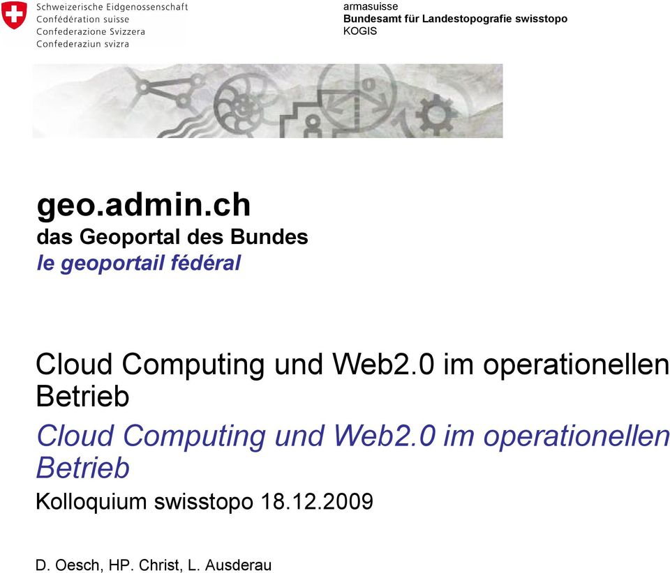 Web2.0 im operationellen Betrieb Cloud Computing und Web2.