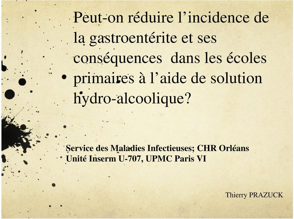 solution hydro-alcoolique?