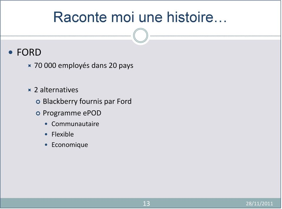 Blackberry fournis par Ford Programme