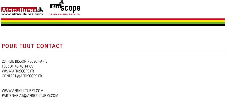 AFRISCOPE.FR CONTACT@AFRISCOPE.FR WWW.