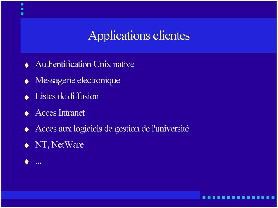 de diffusion Acces Intranet Acces aux