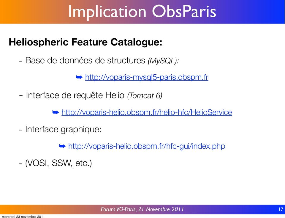 fr - Interface de requête Helio (Tomcat 6) http://voparis-helio.obspm.