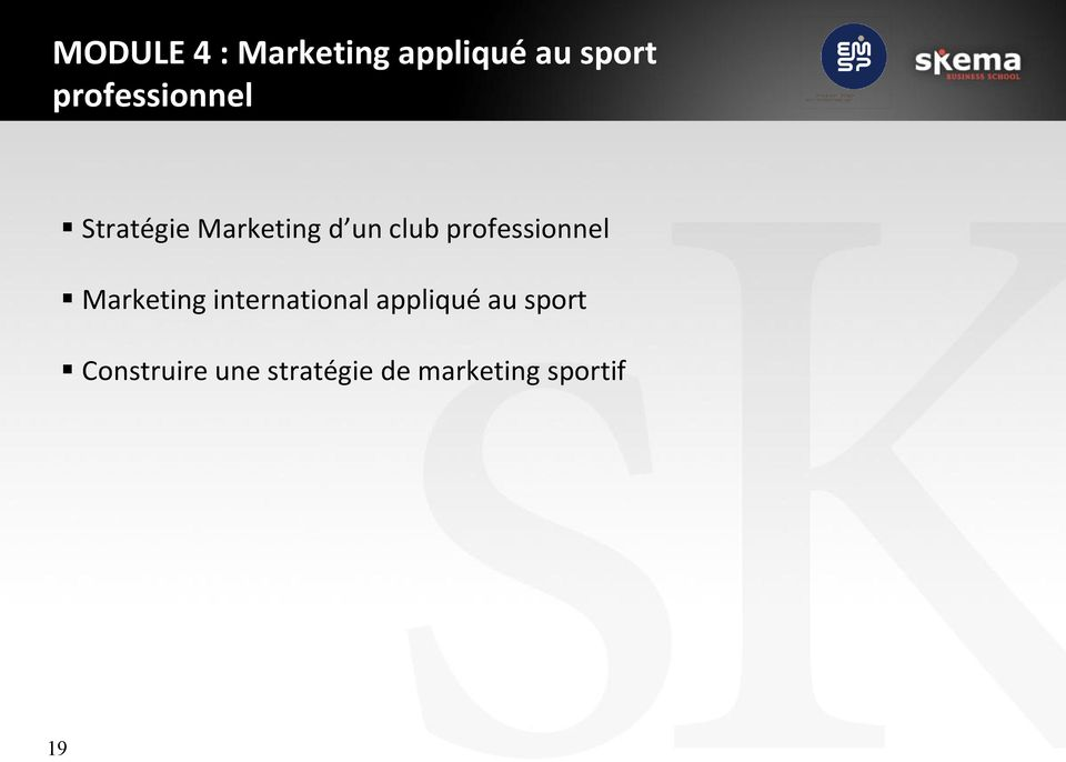 professionnel Marketing international appliqué
