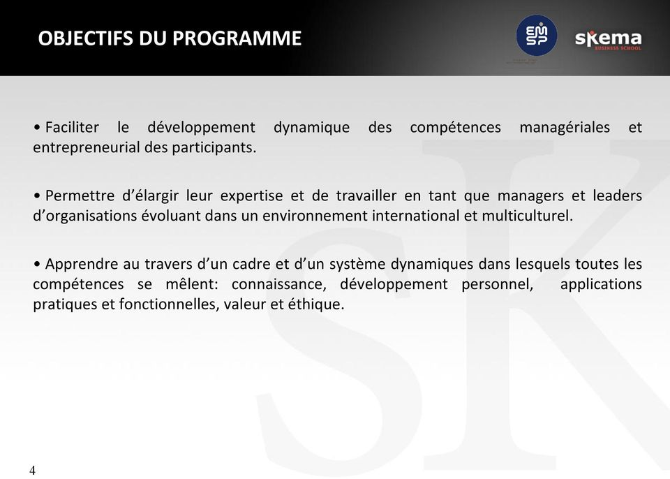 environnement international et multiculturel.