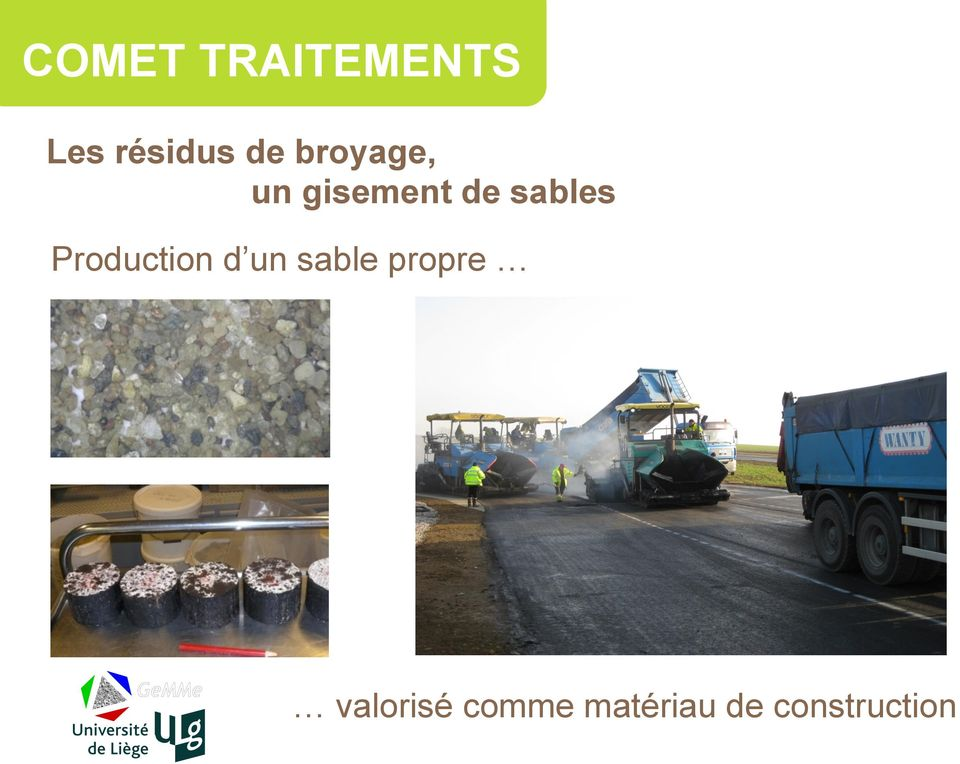 Production d un sable propre