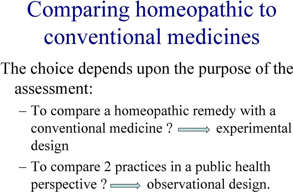 homeopathic remedy with a conventional medicine?