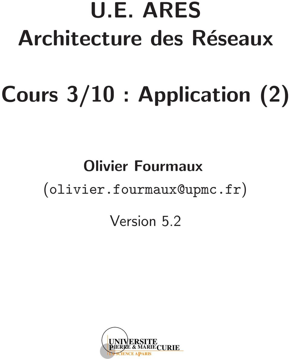 Application (2) Olivier