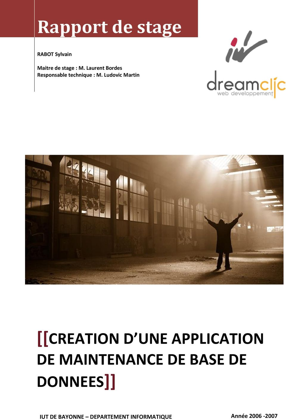 Ludovic Martin [[CREATION D UNE APPLICATION DE