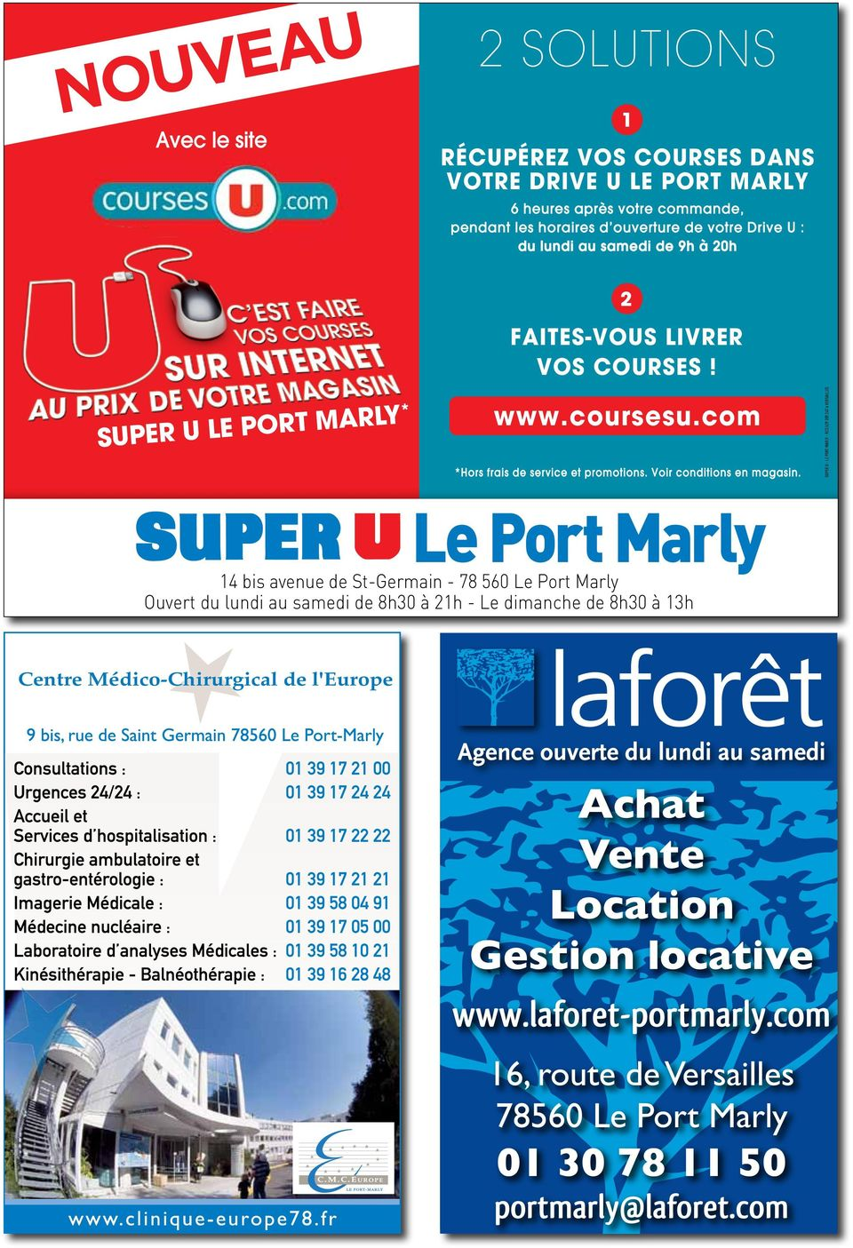 SUPER U - LE PORT MARLY - RCS 529 309 247 à VERSAILLES ignatures.