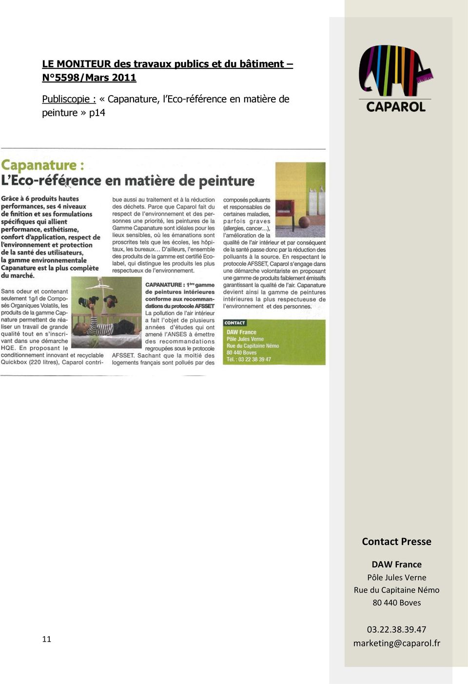 Publiscopie : «Capanature, l