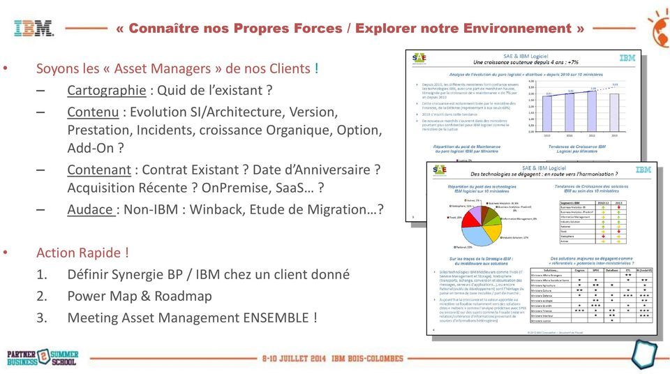 Contenu : Evolution SI/Architecture, Version, Prestation, Incidents, croissance Organique, Option, Add-On?