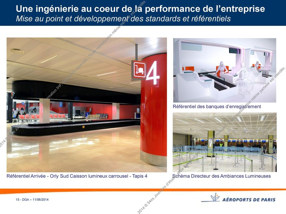 Orly Sud Caisson lumineux carrousel - Tapis 4 15 - DGA 11/06/2014