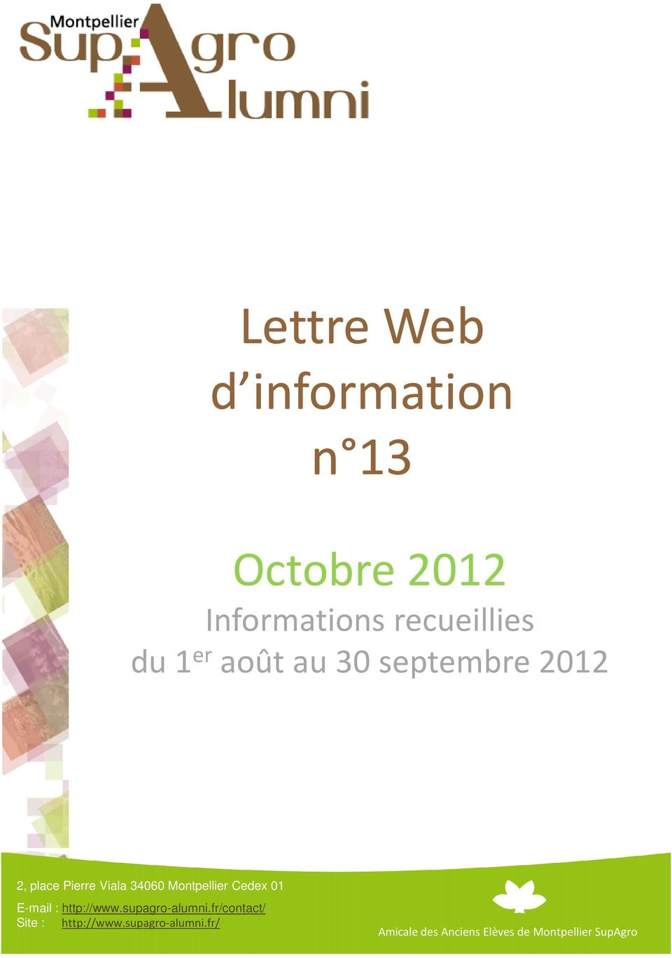 Informations recueillies