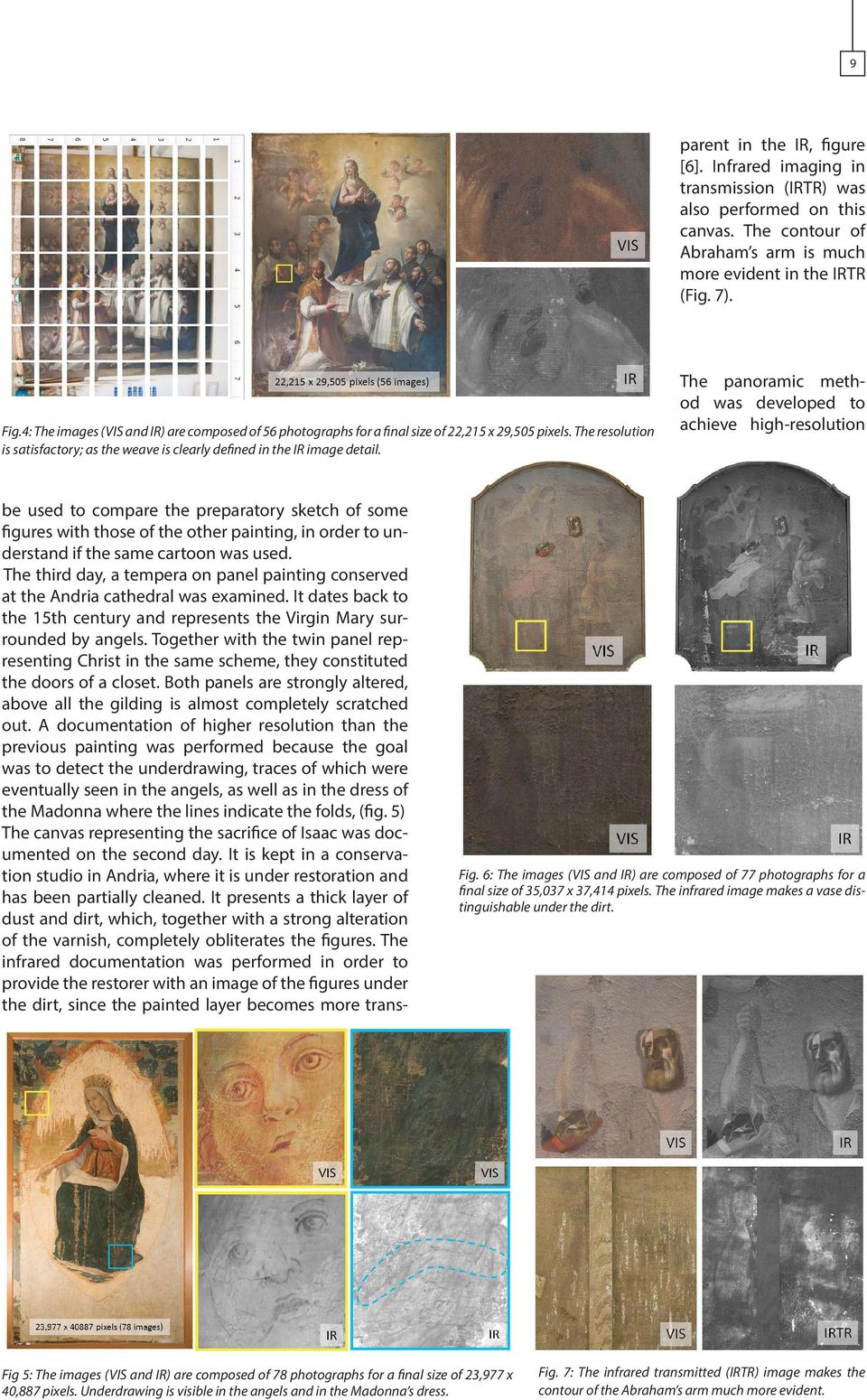 be used to compare the preparatory sketch of some figures with those of the other painting, in order to understand if the same cartoon was used.