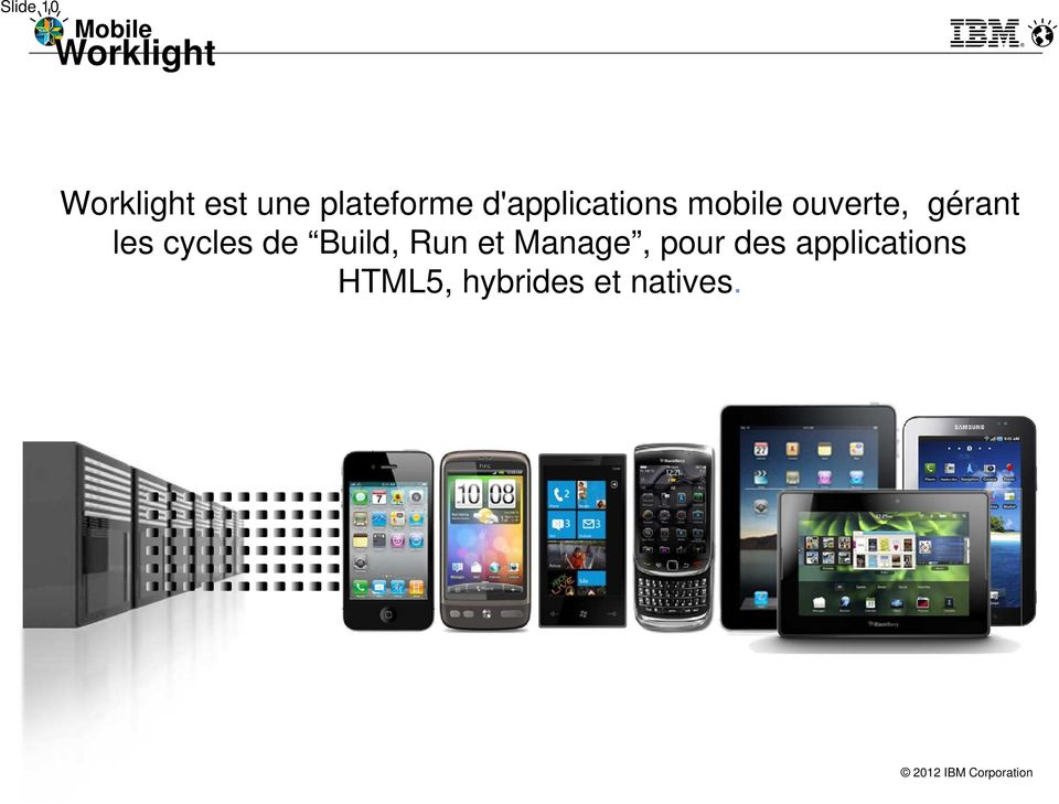 gérant les cycles de Build, Run et Manage,