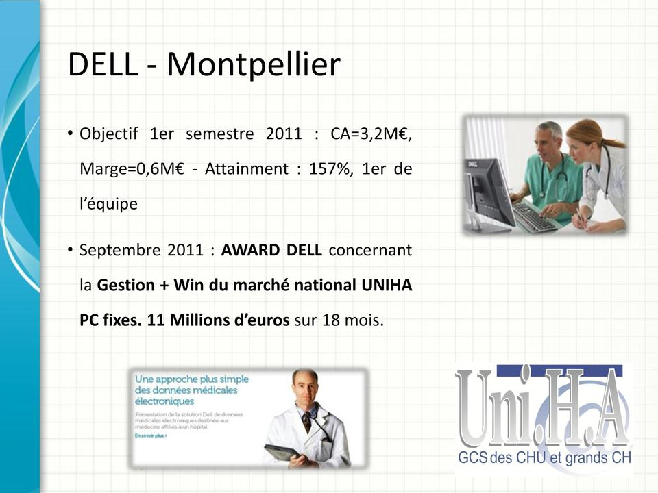 Septembre 2011 : AWARD DELL concernant la Gestion + Win