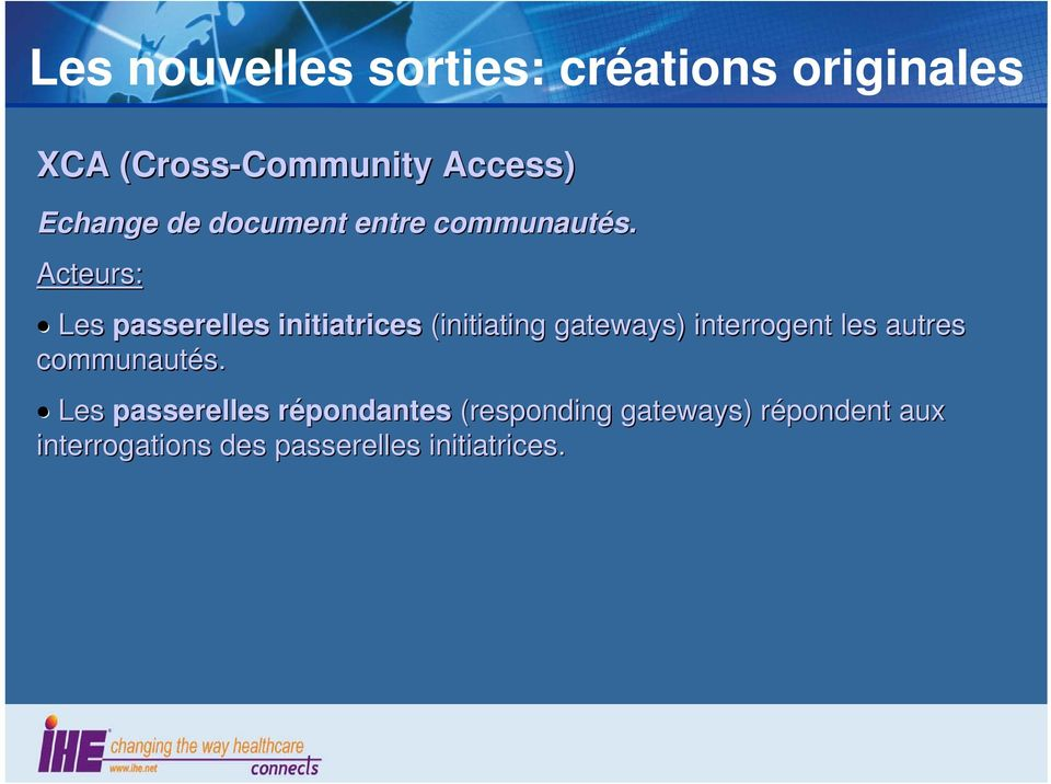 Les passerelles initiatrices (initiating gateways) interrogent les autres