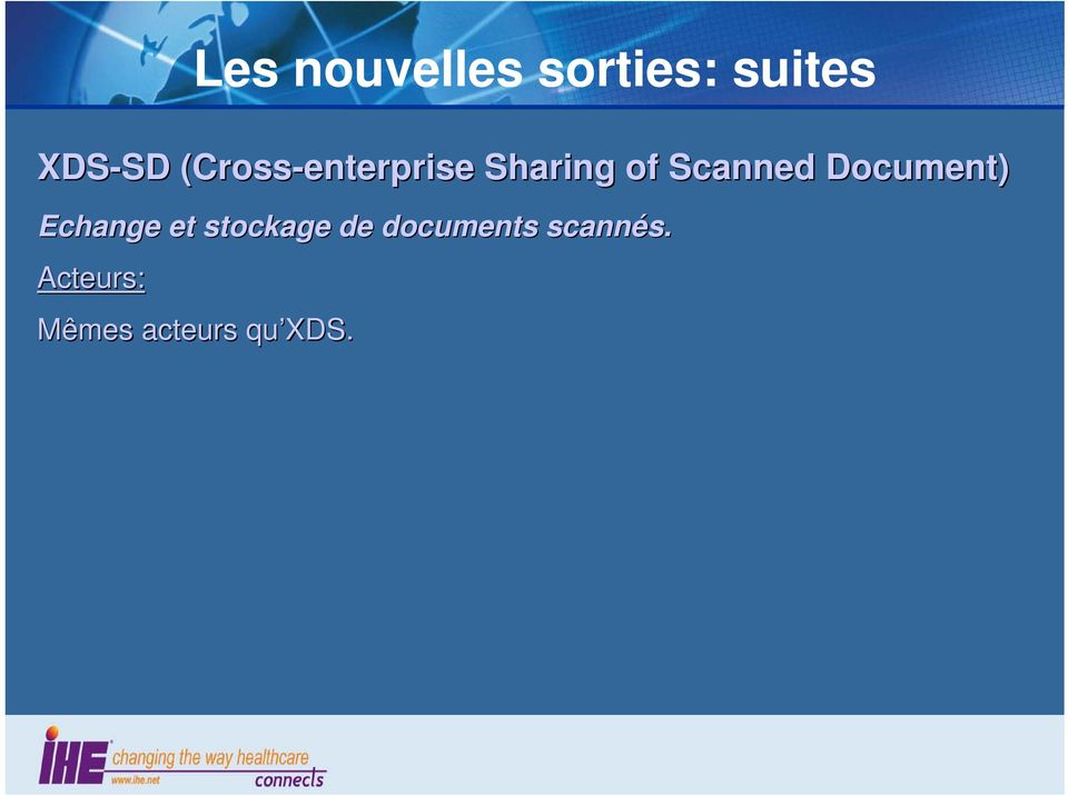 Scanned Document) Echange et stockage