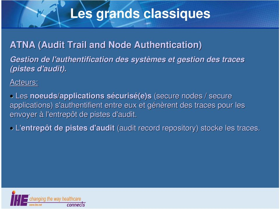 Les noeuds/applications sécuriss curisé(e)s (secure nodes / secure applications) s'authentifient