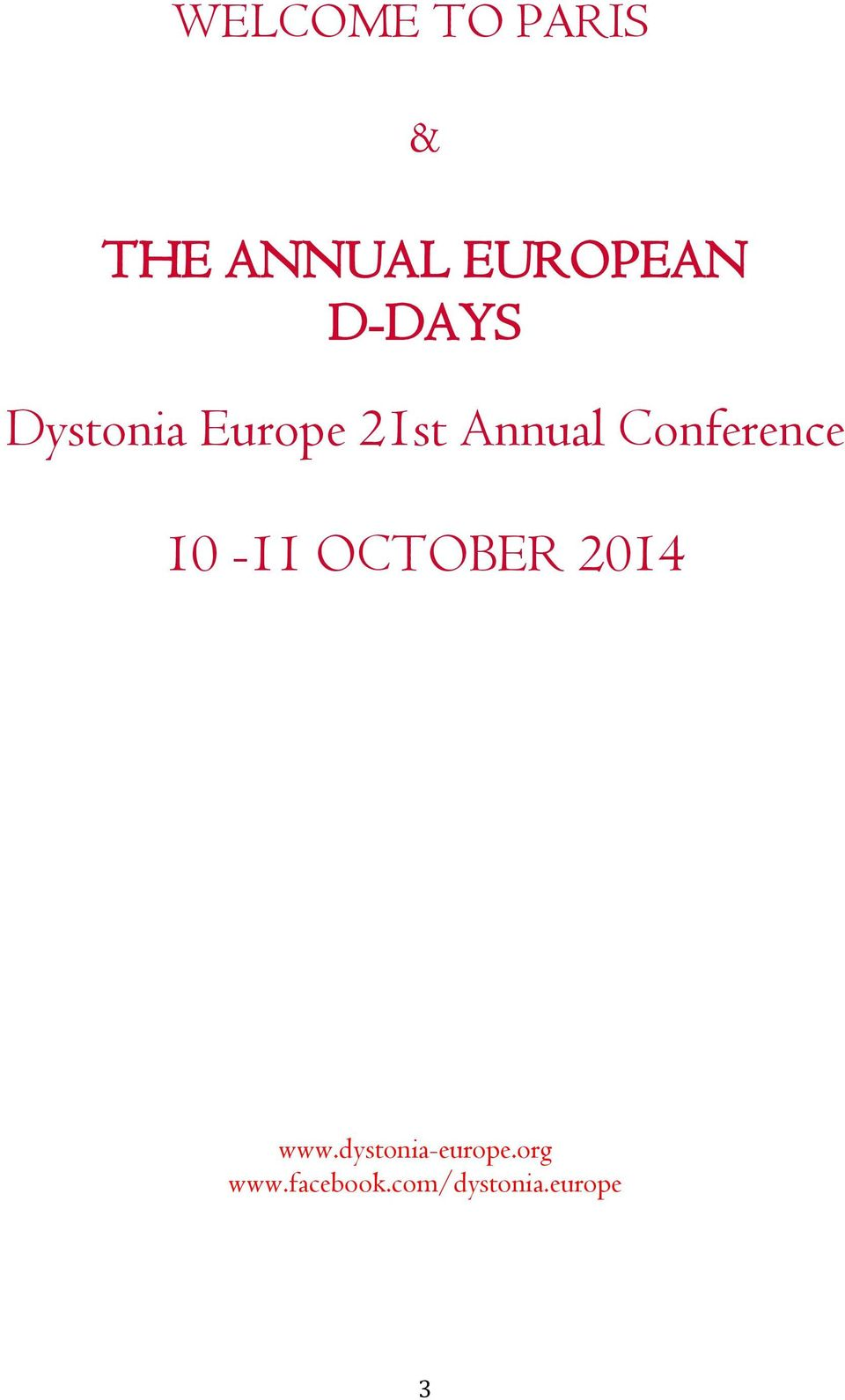 Conference 10-11 OCTOBER 2014 www.
