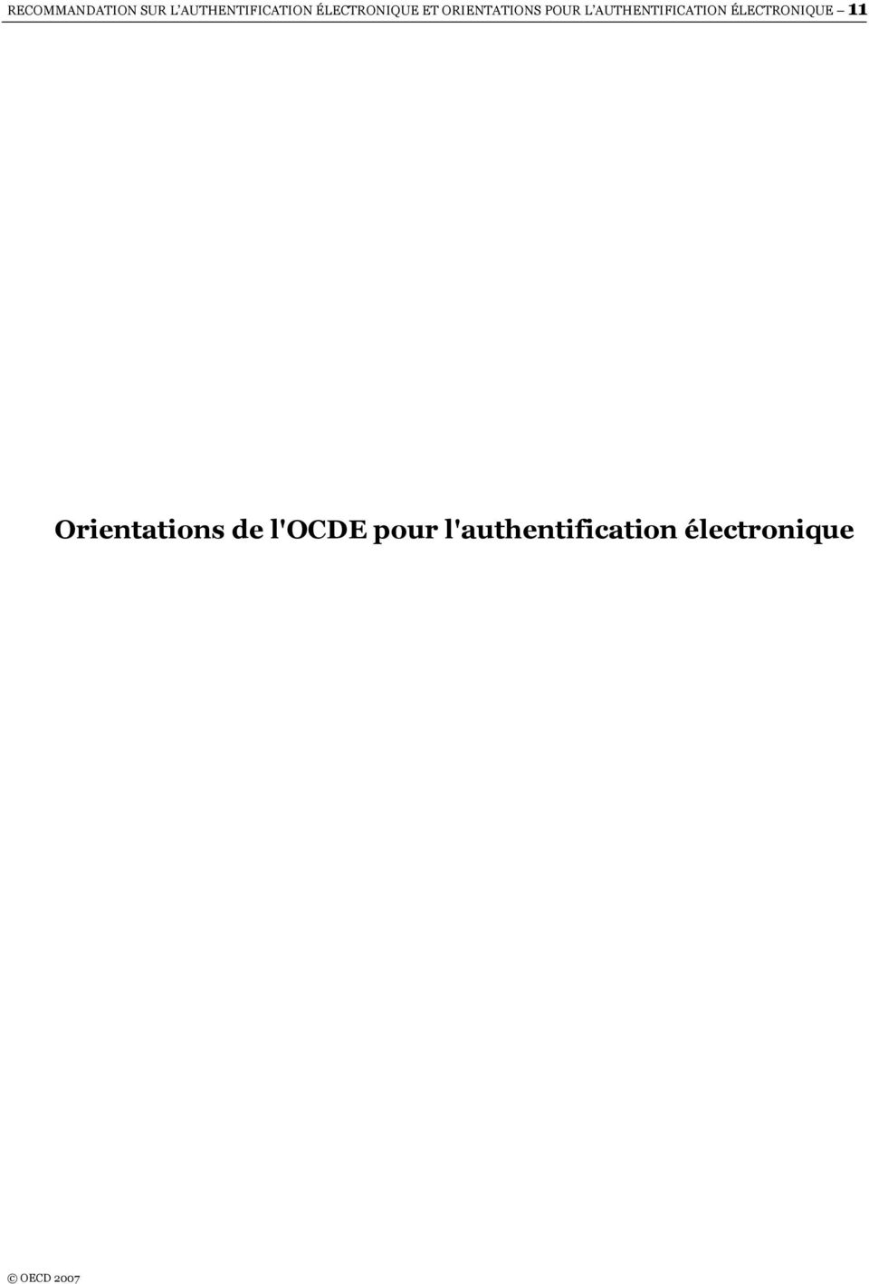 AUTHENTIFICATION ÉLECTRONIQUE 11