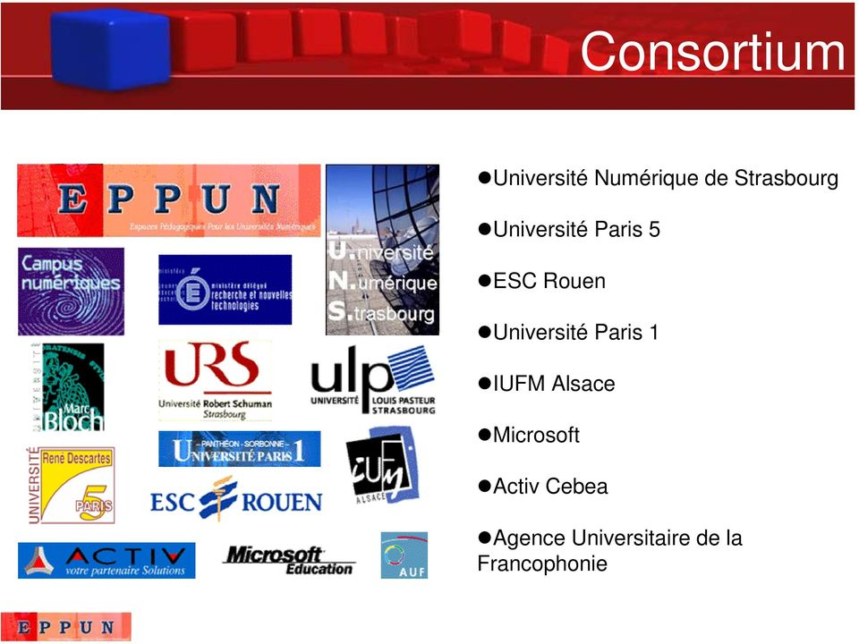 Université Paris 1 IUFM Alsace Microsoft