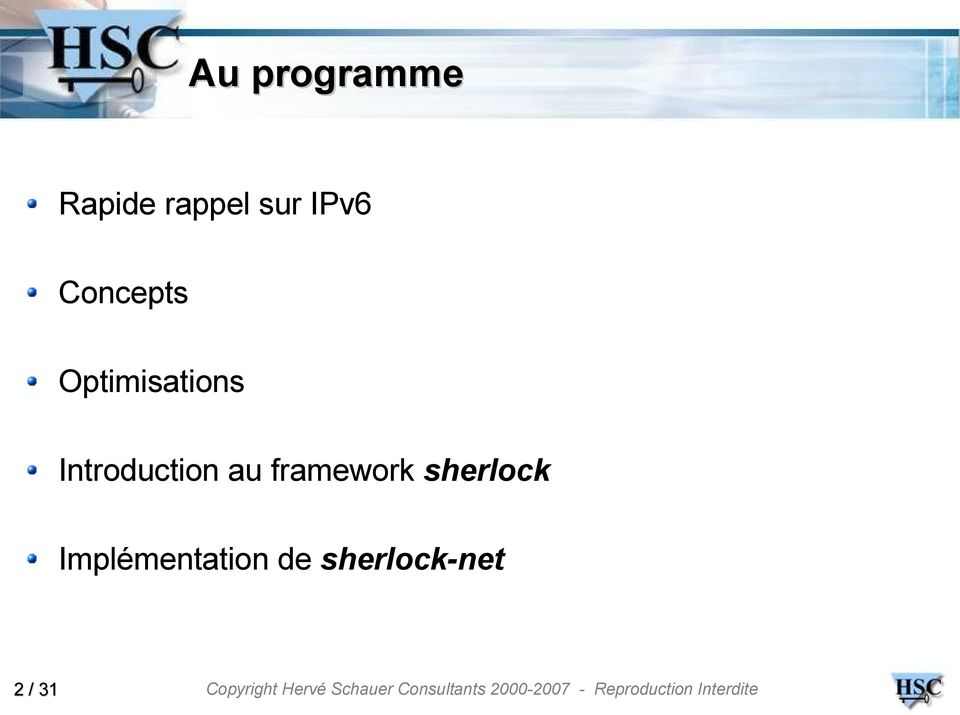 Introduction au framework