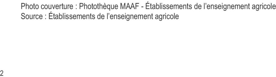 enseignement agricole Source :