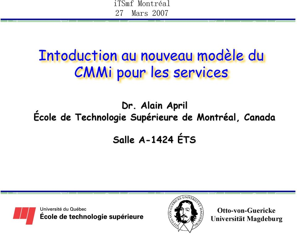 Alain April École de Technologie
