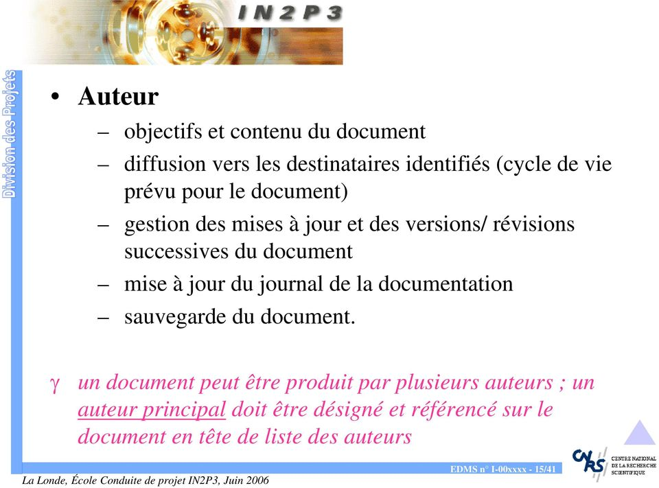 journal de la documentation sauvegarde du document.