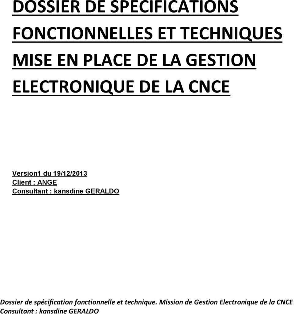 EN PLACE DE LA GESTION ELECTRONIQUE