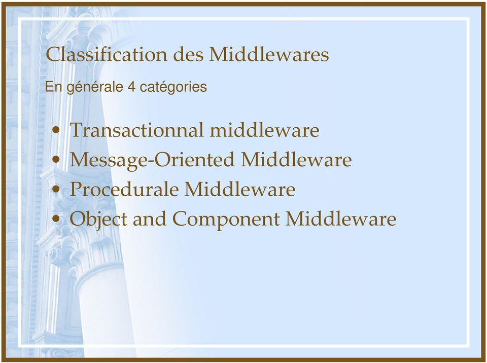 middleware Message Oriented Middleware