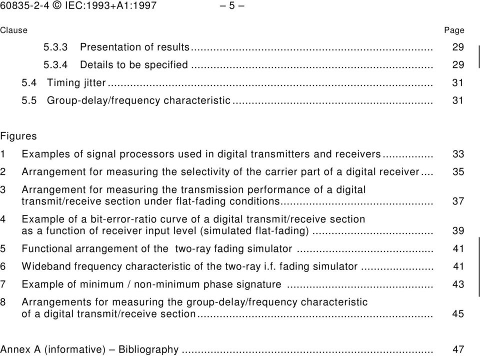 .. 35 3 Arrangement for measuring the transmission performance of a digital transmit/receive section under flat-fading conditions.