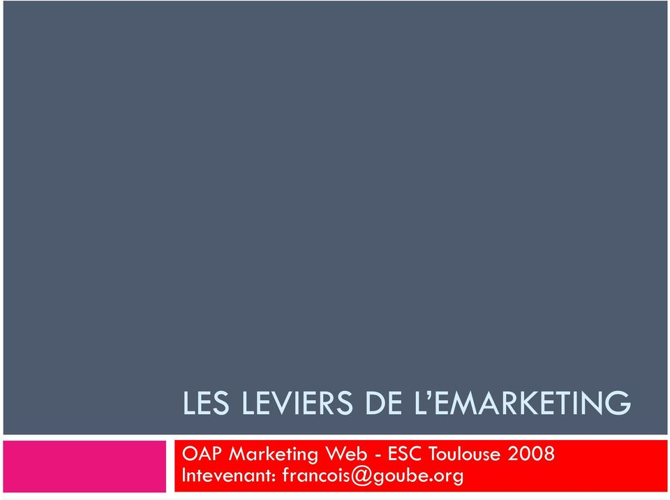 Marketing Web - ESC