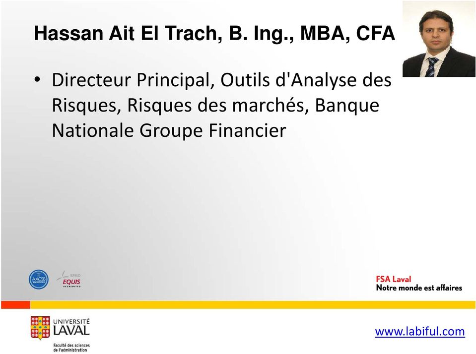 Outils d'analyse des Risques,