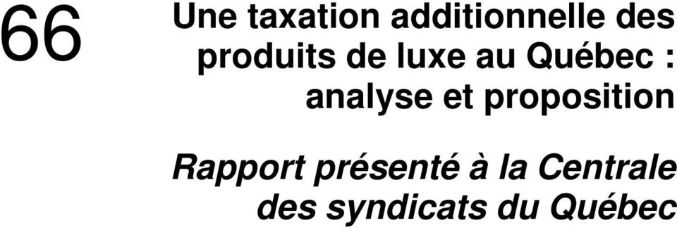 analyse et proposition Rapport