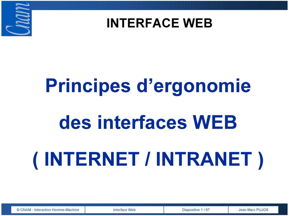 INTRANET ) CNAM - Interaction
