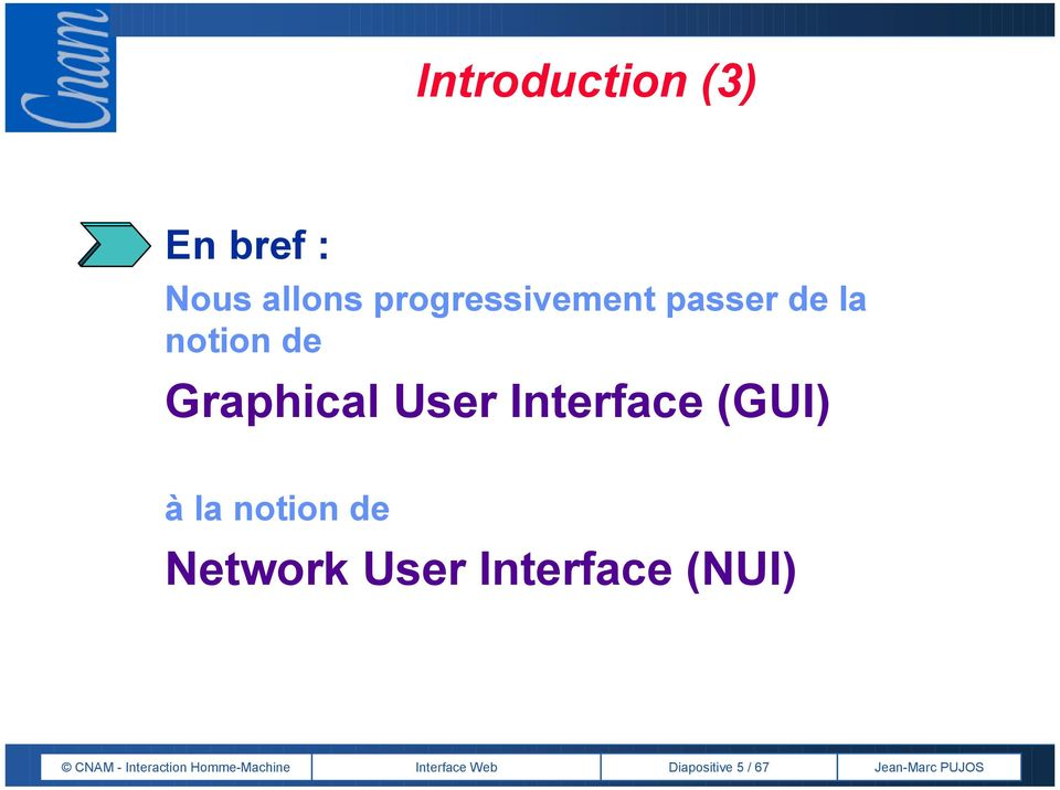 à la notion de Network User Interface (NUI) CNAM -