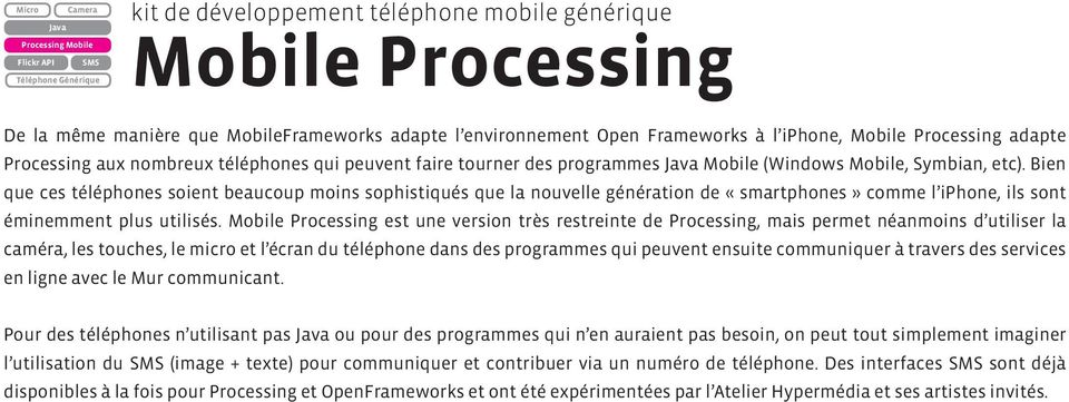 programmes Mobile (Windows Mobile, Symbian, etc).