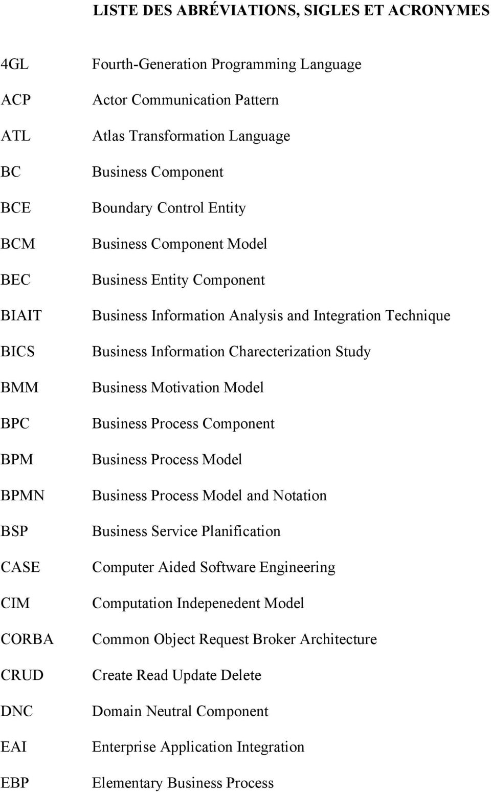 Information Charecterization Study Business Motivation Model Business Process Component Business Process Model Business Process Model and Notation Business Service Planification Computer Aided