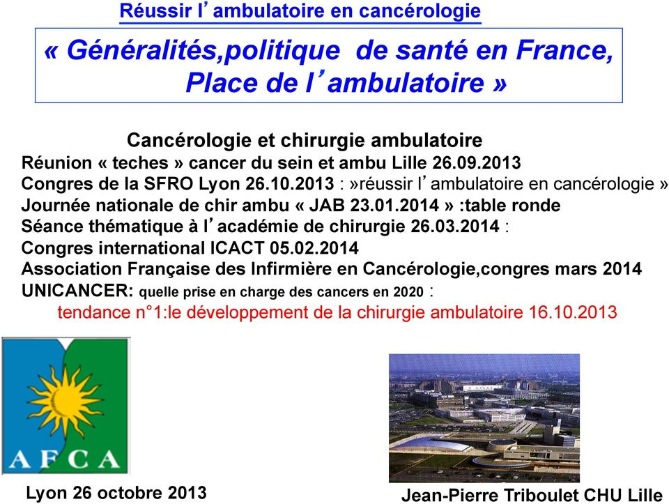 03.2014 : Congres international ICACT 05.02.