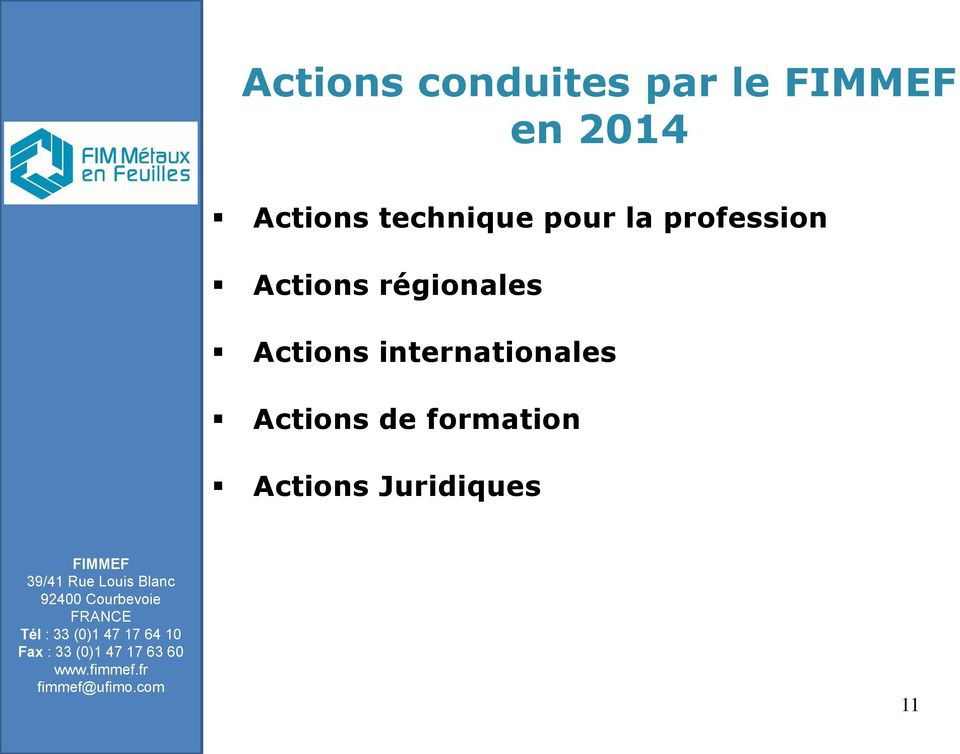 Actions régionales Actions