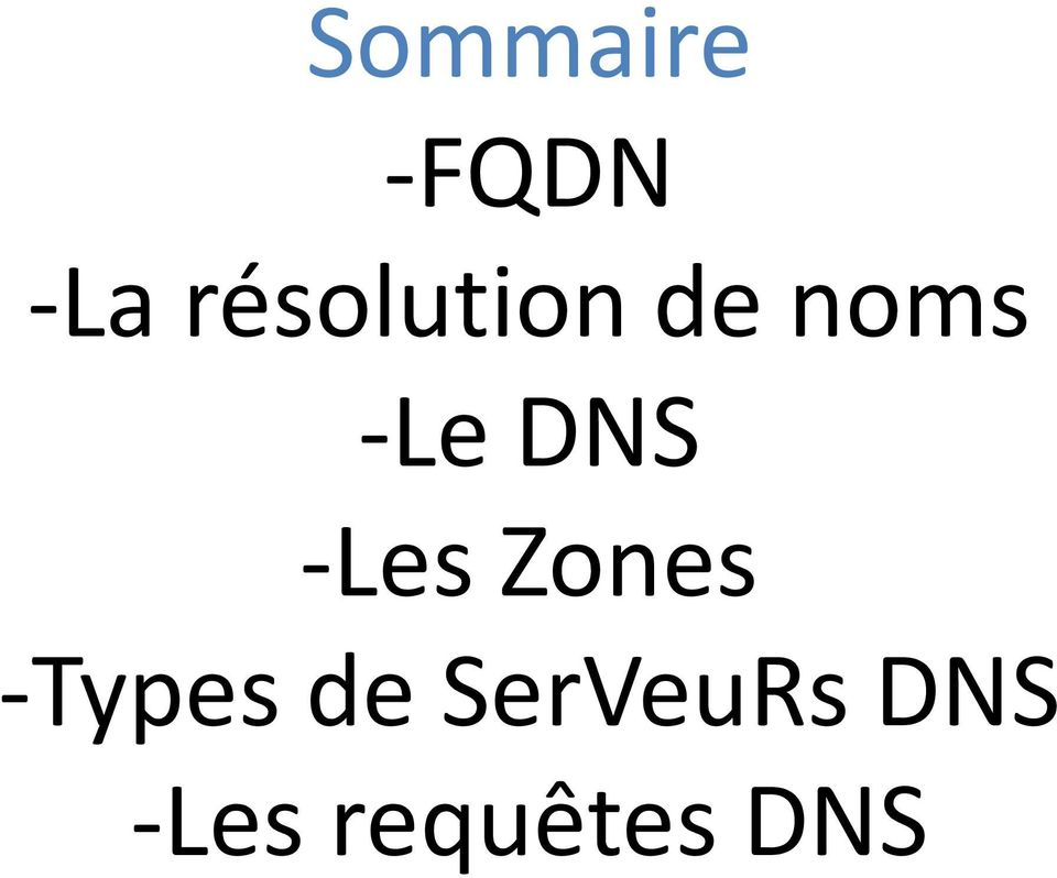 DNS -Les Zones -Types