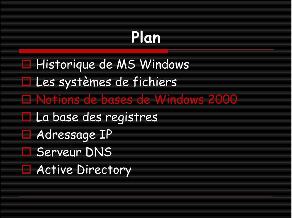 de Windows 2000 La base des registres