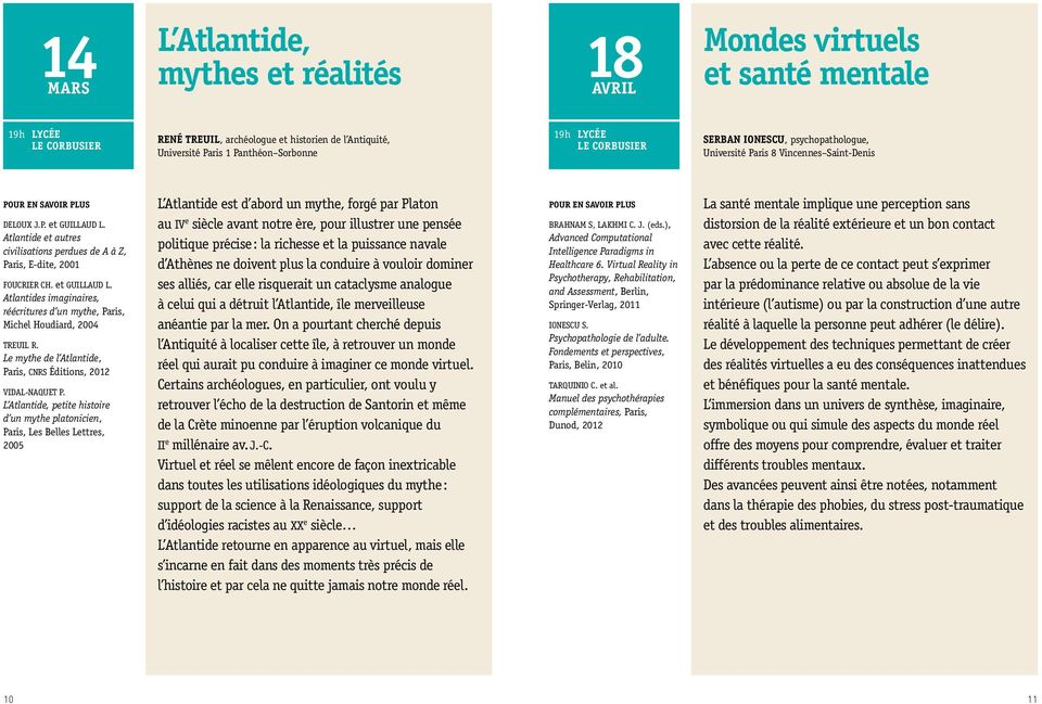 Le mythe de l Atlantide, Paris, CNRS Éditions, 2012 VIDAL-NAQUET P.