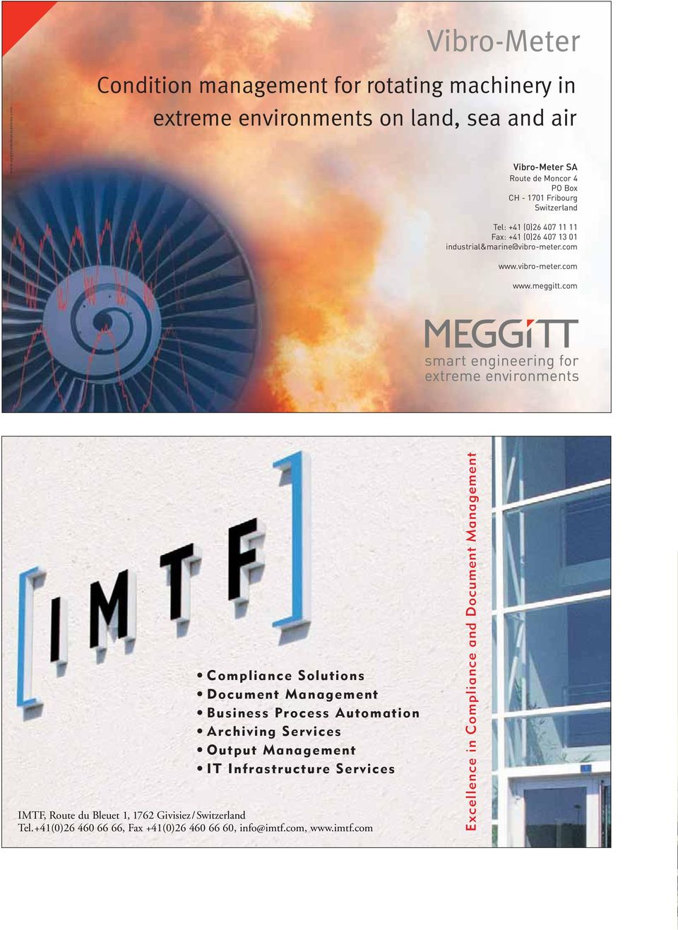 land, sea and air Vibro-Meter SA Route de Moncor 4 PO Box CH - 1701 Fribourg