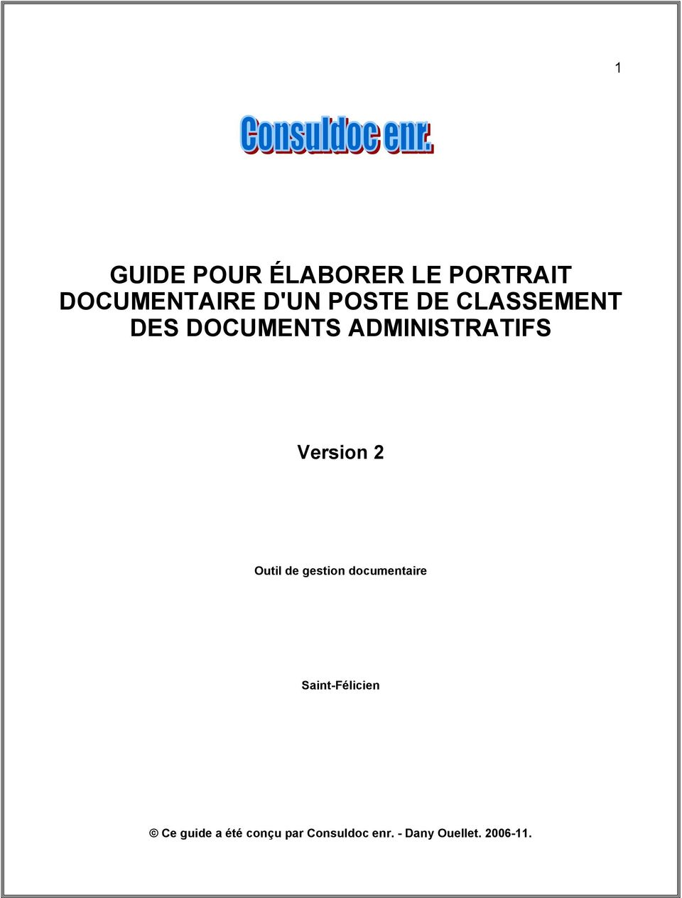 DES DOCUMENTS ADMINISTRATIFS Version 2