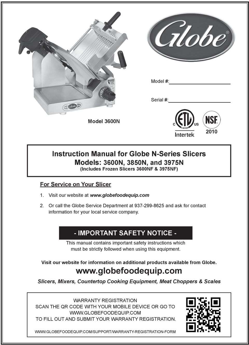 - IMPORTANT SAFETY NOTICE - This manual contains important safety instructions which must be strictly followed when using this equipment.