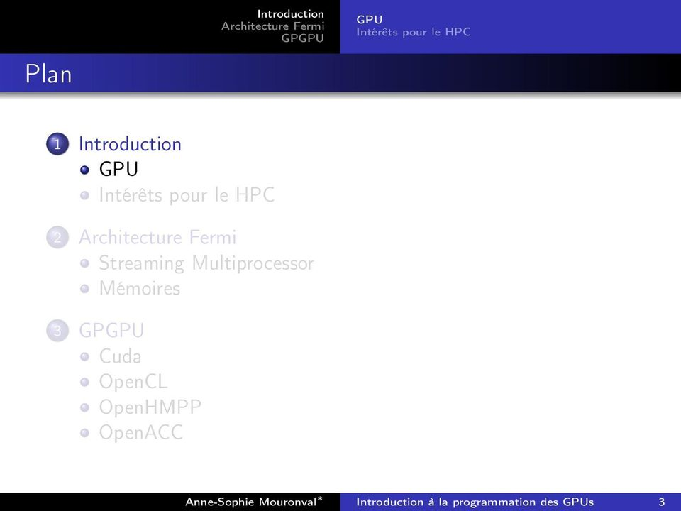 Streaming Multiprocessor Mémoires 3